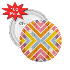 Line Pattern Cross Print Repeat 2 25  Buttons (100 Pack)