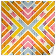 Line Pattern Cross Print Repeat Canvas 20  X 20