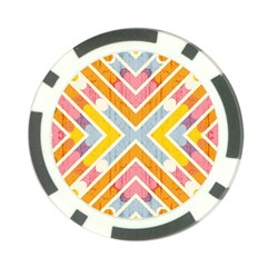 Line Pattern Cross Print Repeat Poker Chip Card Guards