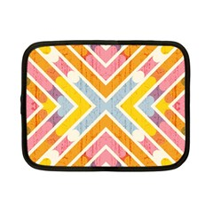 Line Pattern Cross Print Repeat Netbook Case (small)