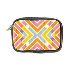 Line Pattern Cross Print Repeat Coin Purse