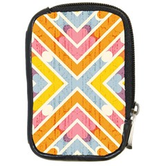 Line Pattern Cross Print Repeat Compact Camera Cases