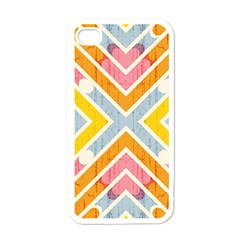 Line Pattern Cross Print Repeat Apple Iphone 4 Case (white)