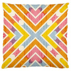 Line Pattern Cross Print Repeat Large Cushion Case (two Sides)