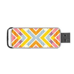 Line Pattern Cross Print Repeat Portable Usb Flash (two Sides)