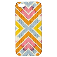 Line Pattern Cross Print Repeat Apple Iphone 5 Hardshell Case