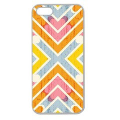 Line Pattern Cross Print Repeat Apple Seamless Iphone 5 Case (clear)