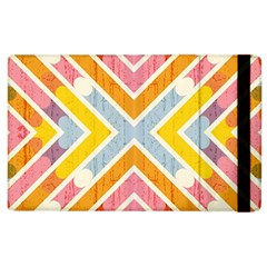 Line Pattern Cross Print Repeat Apple Ipad 2 Flip Case