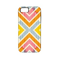 Line Pattern Cross Print Repeat Apple Iphone 5 Classic Hardshell Case (pc+silicone)