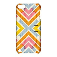 Line Pattern Cross Print Repeat Apple Ipod Touch 5 Hardshell Case With Stand
