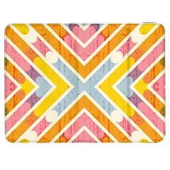 Line Pattern Cross Print Repeat Samsung Galaxy Tab 7  P1000 Flip Case