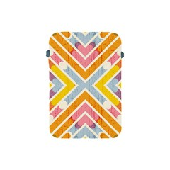 Line Pattern Cross Print Repeat Apple Ipad Mini Protective Soft Cases