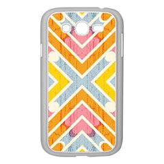 Line Pattern Cross Print Repeat Samsung Galaxy Grand Duos I9082 Case (white)