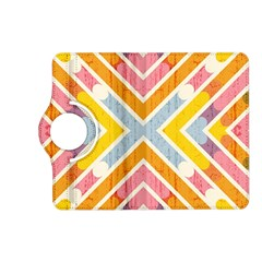 Line Pattern Cross Print Repeat Kindle Fire Hd (2013) Flip 360 Case
