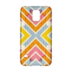 Line Pattern Cross Print Repeat Samsung Galaxy S5 Hardshell Case