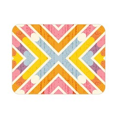 Line Pattern Cross Print Repeat Double Sided Flano Blanket (Mini)