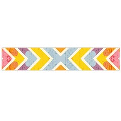 Line Pattern Cross Print Repeat Flano Scarf (large)
