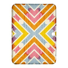 Line Pattern Cross Print Repeat Samsung Galaxy Tab 4 (10 1 ) Hardshell Case