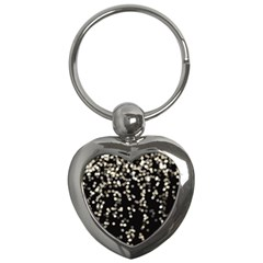 Christmas Bokeh Lights Background Key Chains (heart)