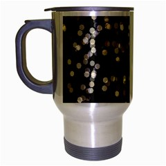 Christmas Bokeh Lights Background Travel Mug (Silver Gray)