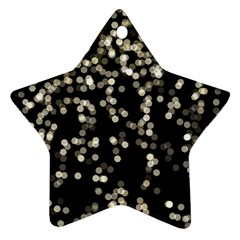 Christmas Bokeh Lights Background Star Ornament (two Sides)