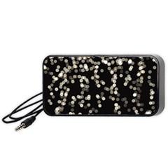 Christmas Bokeh Lights Background Portable Speaker (black)