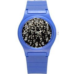 Christmas Bokeh Lights Background Round Plastic Sport Watch (s)