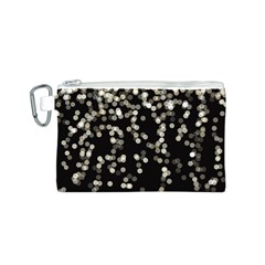 Christmas Bokeh Lights Background Canvas Cosmetic Bag (s)