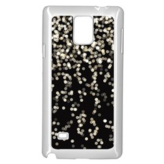 Christmas Bokeh Lights Background Samsung Galaxy Note 4 Case (white)