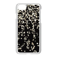 Christmas Bokeh Lights Background Apple Iphone 7 Seamless Case (white)