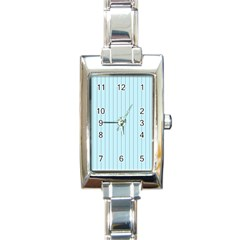 Stripes Striped Turquoise Rectangle Italian Charm Watch