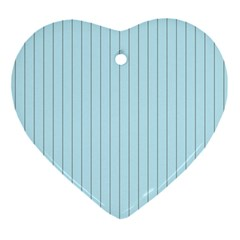 Stripes Striped Turquoise Ornament (heart)