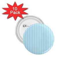 Stripes Striped Turquoise 1 75  Buttons (10 Pack)