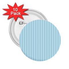 Stripes Striped Turquoise 2 25  Buttons (10 Pack)