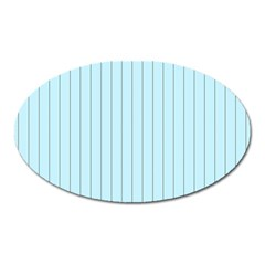 Stripes Striped Turquoise Oval Magnet