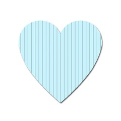 Stripes Striped Turquoise Heart Magnet