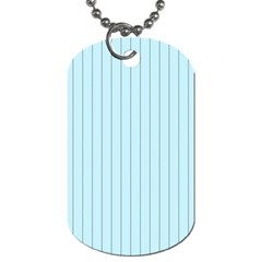 Stripes Striped Turquoise Dog Tag (one Side)