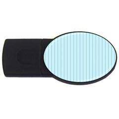 Stripes Striped Turquoise USB Flash Drive Oval (2 GB)
