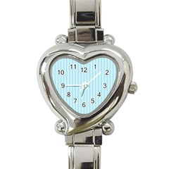 Stripes Striped Turquoise Heart Italian Charm Watch
