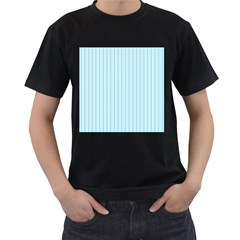 Stripes Striped Turquoise Men s T Shirt (black) (two Sided)