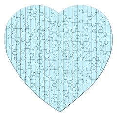 Stripes Striped Turquoise Jigsaw Puzzle (heart)