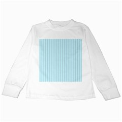Stripes Striped Turquoise Kids Long Sleeve T Shirts