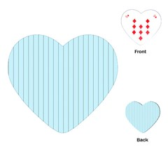 Stripes Striped Turquoise Playing Cards (heart)