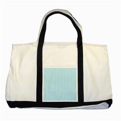 Stripes Striped Turquoise Two Tone Tote Bag