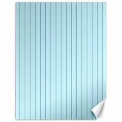 Stripes Striped Turquoise Canvas 12  X 16