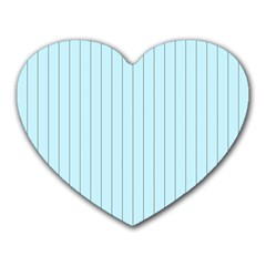 Stripes Striped Turquoise Heart Mousepads