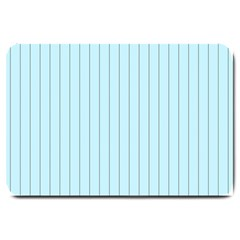 Stripes Striped Turquoise Large Doormat