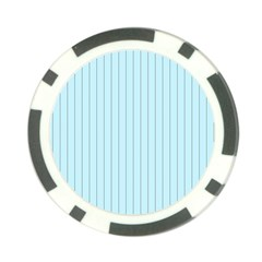 Stripes Striped Turquoise Poker Chip Card Guards (10 Pack)