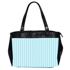 Stripes Striped Turquoise Office Handbags (2 Sides)
