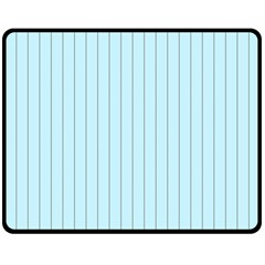 Stripes Striped Turquoise Fleece Blanket (medium)